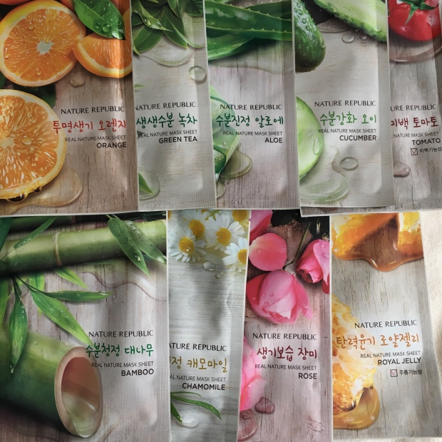 Nature Republic Real Nature 10-Piece Variety Mask
