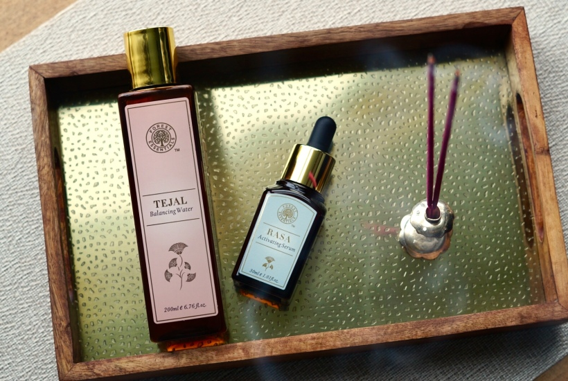 Forest Essentials Rasa Activating Serum and Tejal Balancing Water