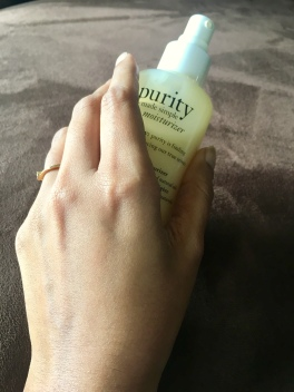 Philosophy Purity Made Simple Ultra-Light Moisturizer absorbed